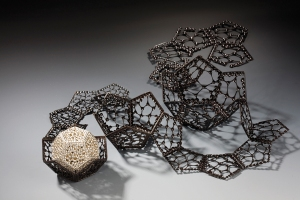 Geoff Riggle and Lisa Wilson: 2012. Copper, sterling, nickel, steel, patina, 2010.