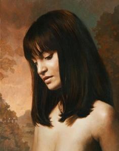 """Julie Bell: """"Scheherazade"""", oil painting, 18"""" x 15""""."""
