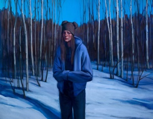 """Katherine Fraser: """"Revelation"""". Oil painting, 44"""" x 58""""."""