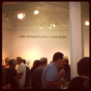 Opening night, July 24, 2013, Mikhail Zakin Gallery's Small Works Show in Demarest, NJ. Photo: P. Sullivan