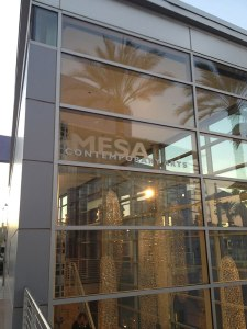 Mesa Contemporary Arts Museum (rear facade of bldg.) on opening night, February 14th, 2014. Photo: P. Sullivan