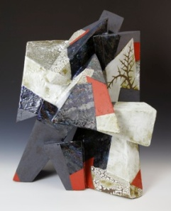 "Jeff Reich, ""Allthorn"", glazed stoneware sculpture, 23 x 18 x 18"", 2012.  Photo courtesy of Indigo Street Pottery, Mesa, AZ."