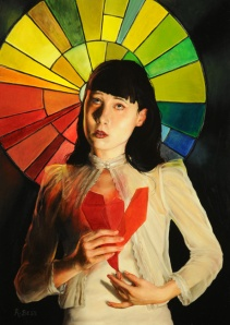 "Rachel Bess, ""Heart of Glass"". Oil on panel, 7""x 5"", 2013."