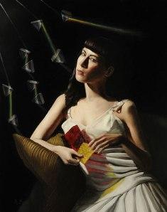 "Rachel Bess, ""Prisms"". Oil on panel, 10"" x 8"", 2013. Photo courtesy of Lisa Sette Gallery."